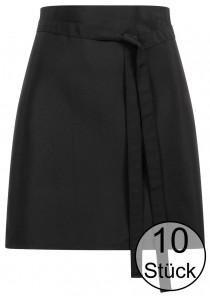 Krawattenschal mit Ornamenten in dunkelrot -