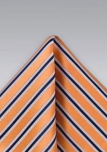 Clipkrawatte mit Streifen in dunkelblau und