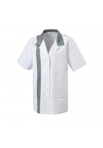 Ziertuch handrolliert aus Leinen in weiß und