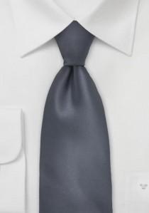 - Clip-Krawatte silber Streifen