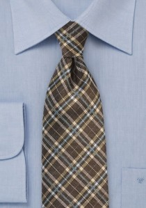 - Krawatte dunkelblau Seide Ripsstruktur